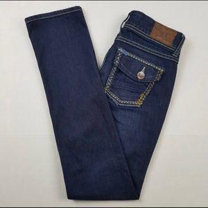 BKE Stella flap pocket straight leg jean 25x31